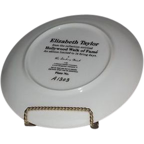 Elizabeth Taylor Hollywood Walk Of Fame Collector Plate