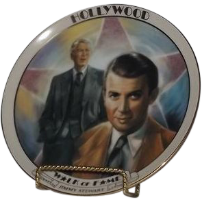 Jimmy Stewart Hollywood Walk Of Fame Collector Plate