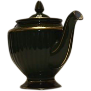 "Hall ""Los Angeles"" Shape Green Teapot"