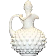 Unmarked Fenton Milk Glass Hobnail Cruet