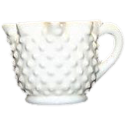Fenton Milk Glass Star Topped Creamer