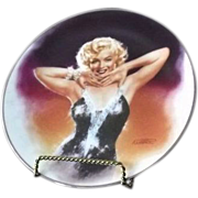"Marilyn Monroe Collector Plate Titled ""Shining Star"""