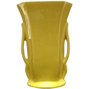 "Yellow ""McCoy"" Two Handled Vase"
