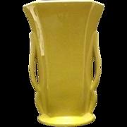 """Yellow """"McCoy"""" Two Handled Vase"""