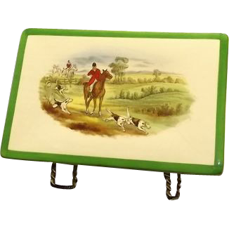 Copeland Spode Hunting Scenes Double Deck Card Box