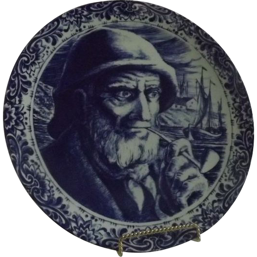 Delft Charger Of Seafaring Man