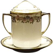 Noritake Condensed Milk Jar With Cover And Underplate