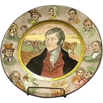 "Royal Doulton Plate Titled ""Burns"""