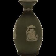 Sage Green Jasperware Wedgwood Bottle Shaped Vase