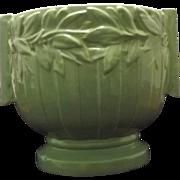 Large Two Handled McCoy Pottery Aqua Jardiniere