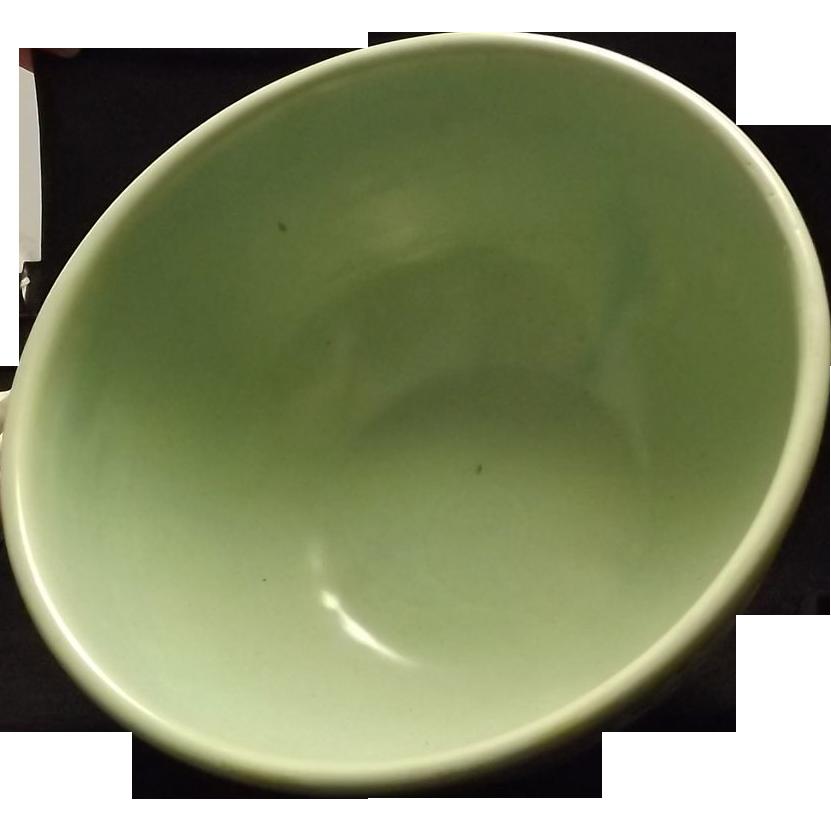 Weller Pottery Basketweave Pattern Footed Center Or Fruit Bowl