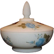 Fenton Handpainted Artist Signed Covered Candy Dish