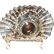 Pressed Glass Bowl With Jack-In-The-Pulpit folded rim