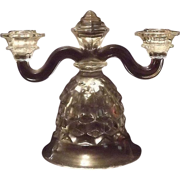 "Fostoria ""American"" Bell Shaped Double Candleholder"