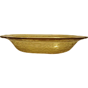 """Federal Glass amber """"Madrid"""" Pattern Vegetable Dish"""