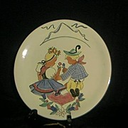 Italian Decorator Plate Signed Pucci Umbertiole