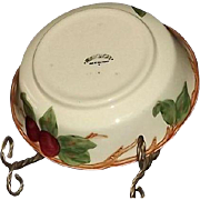 """Franciscan """"Apple"""" Pattern Vegetable Bowl"""