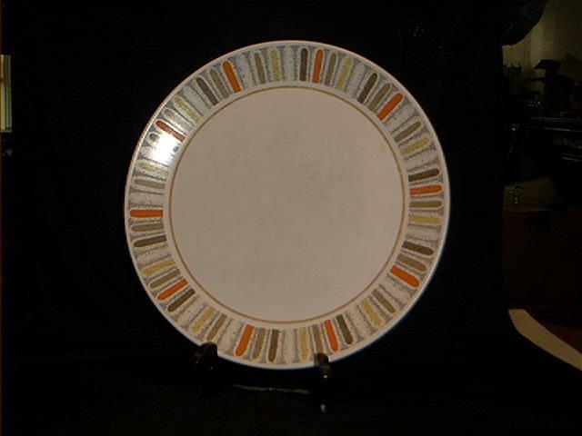 """Noritake """"Mardi Gras"""" Dinner Plate."""