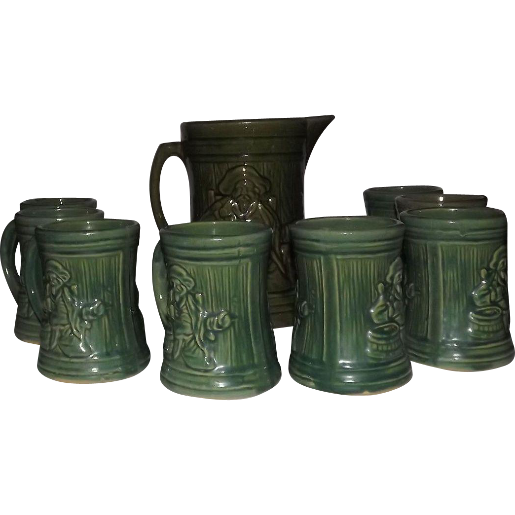 "McCoy Pottery ""Buccaneer"" Lemonade Set"