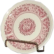"Five Syracuse China Bread And Butter Plates in The ""Strawberry Hill"" Pattern"