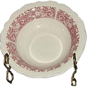 """Set Of Four Syracuse China """"Strawberry Hill"""" Pattern Cereal Bowls"""