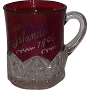 Flash Glass Souvenir  Cup From The 1000 Islands