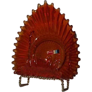 Fostoria Orange Whimsy  Candy Dish