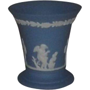 Wedgwood Light Blue Jasperware Trumpet Vase