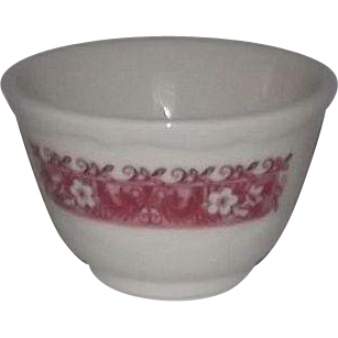 "Set Of Four Syracuse China ""Strawberry Hill"" Pattern Soup Cups"