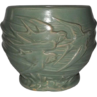 McCoy Pottery Unmarked Flying Swallows Jardiniere