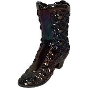 "Fenton Amethyst ""Daisy & Button"" Pattern Boot"