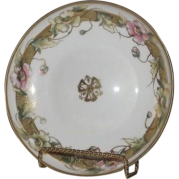 Noritake Poppy Decorated Footed Candy Dish