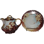 Full Pallette Hand Decorated Teapot And Trivet