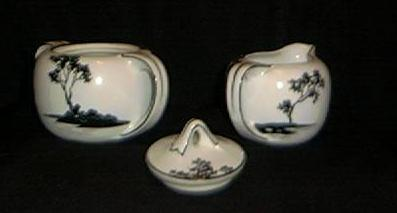 Stunning Noritake Nippon Covered Sugar And Creamer