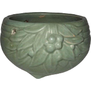 McCoy Pottery Matte Green Hanging Planter