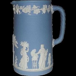 Wedgwood Light Blue Jasperware Pitcher