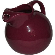 Hall Burgundy Ball Pitcher