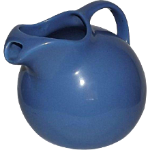 "Hall""s Blue Ball Shaped Pitcher"