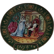 "LImoges Collector Plate Titled ""The Divorce"" Bradex Number 18-D15-7.5"