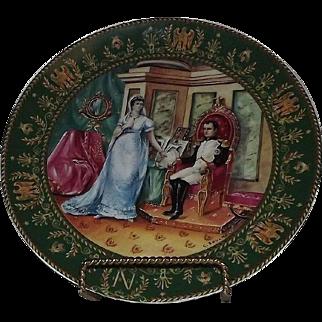 "LImoges Collector Plate Titled ""The Divorce"" Bradex Number 18-D15-7.5"