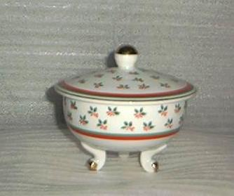 Lovely Lefton Covered Christmas Candy Dish