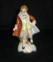 Porcelain Hand Painted Colonial Man Figurine-Made in Japan