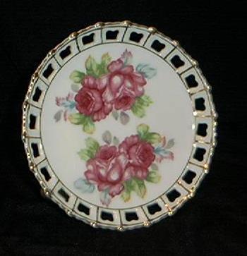 Rose Pedestal Plate