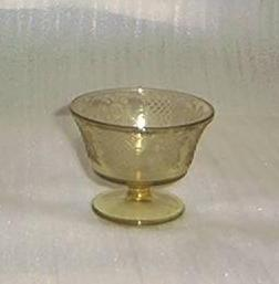 Amber Pressed Glass Sherbet Dish