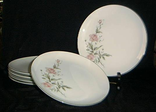 "Set Of Six Castlecourt ""Rose Bouquet"" Salad Plates"