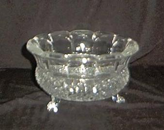 Three Footed Lead Crystal Bowl