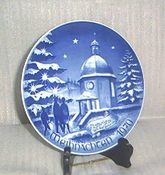 Bareuther 1970 Porcelain Christmas Plate