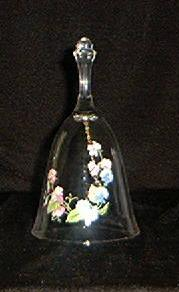 Avon Lead Crystal Bell With A Sweet Pea Motif