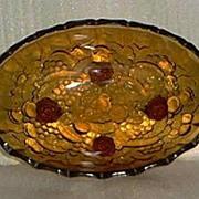 Indiana Glass Amber Fruit Bowl