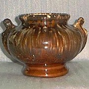 Pretty Handled Urn Shape Pottery Vase